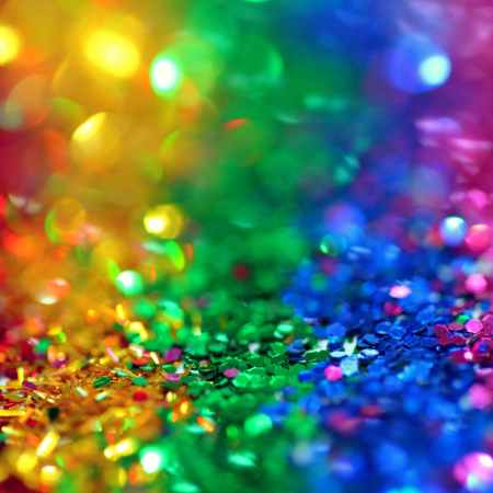 rainbow sequins representing inclusion