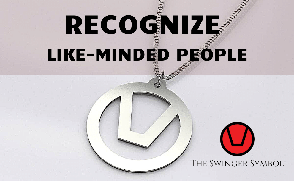 Swinger symbol jewellery necklace in silver