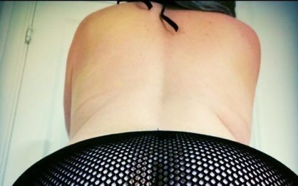 mesh knickers in black modelled by a woman