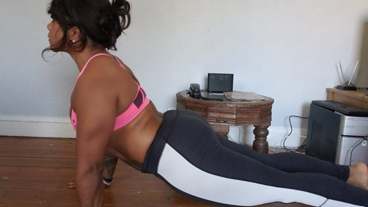 Sadistic coach demonstrating a great sexercise - post lockdown exercise to boost your libido and get you sex ready