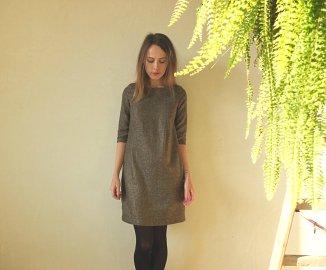 sukienka 109b burda 12 2015 unicornisbytysia welniana sukienka 3