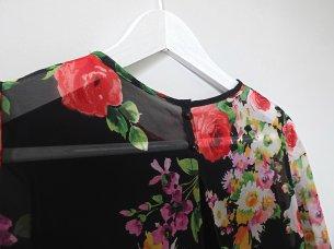 szyfonowa sukienka w kwiaty marszczona unicornisbytysia burda 2