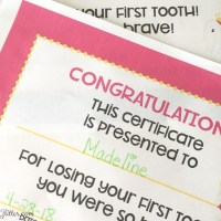 Free Tooth Fairy Certificates