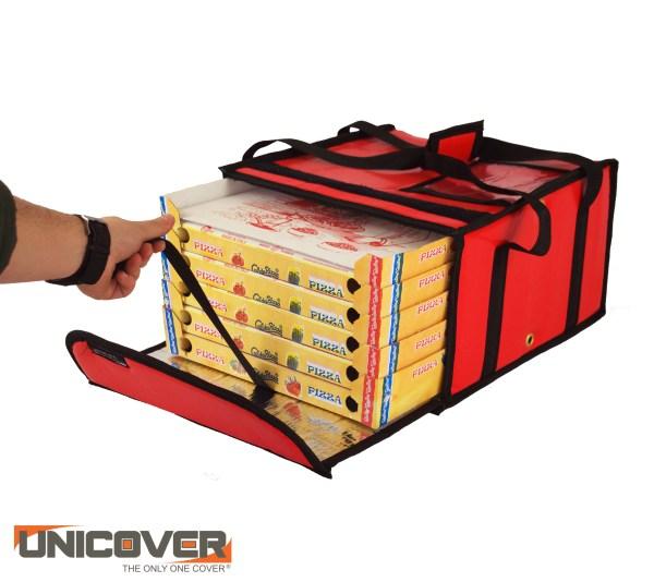 borsa per pizza 5/6 cartoni scarlet