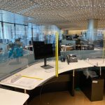 Universal Custom Display UCD PPE Office Cubicle Dividers Separating Desks To Protect Employees From Airborne Germs And Infections