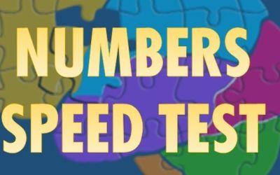 Ejercicio de Memoria y Atención con Numbers Speed Test