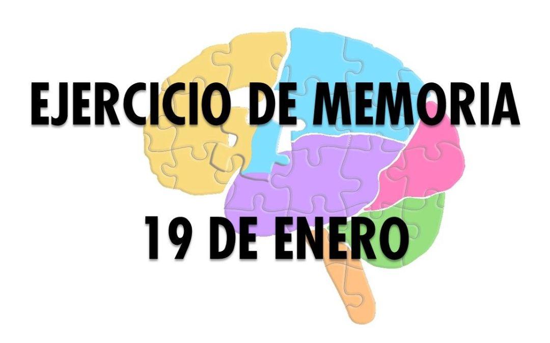 Ejercicio de Memoria 19 de enero