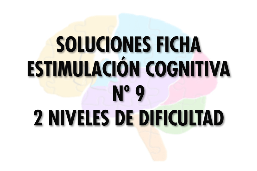 Soluciones ficha cognitiva nº 9