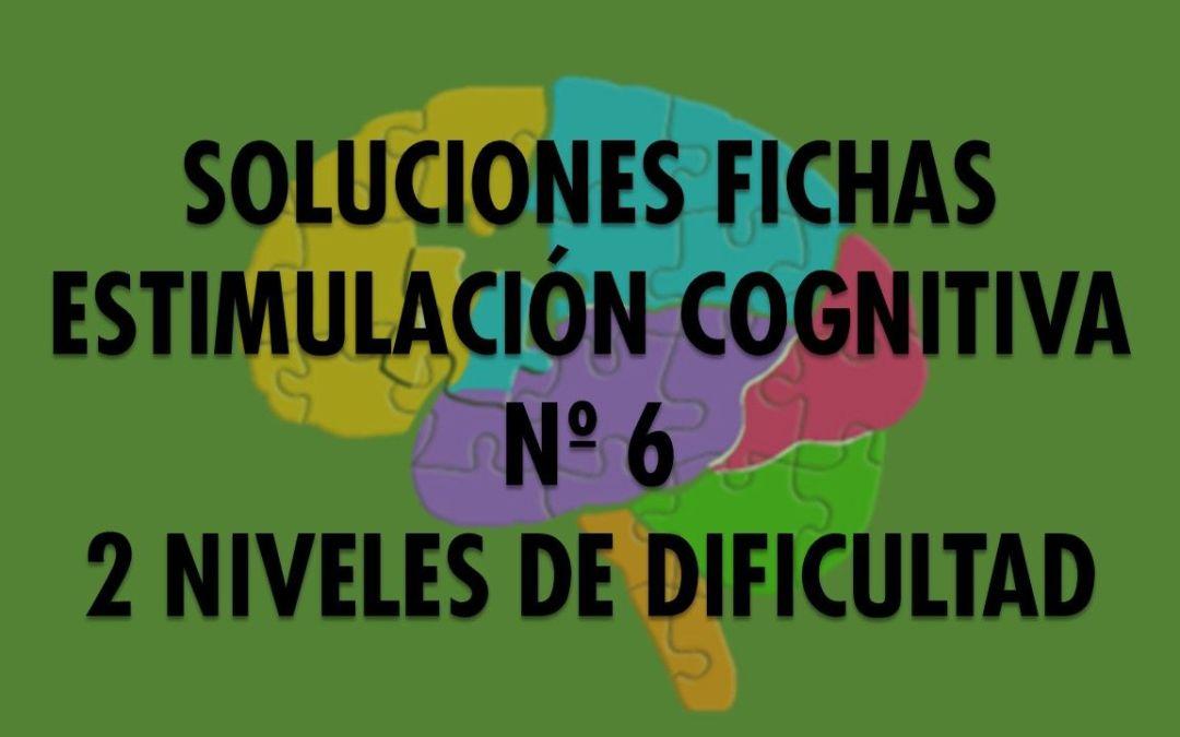 Soluciones ficha cognitiva nº 6