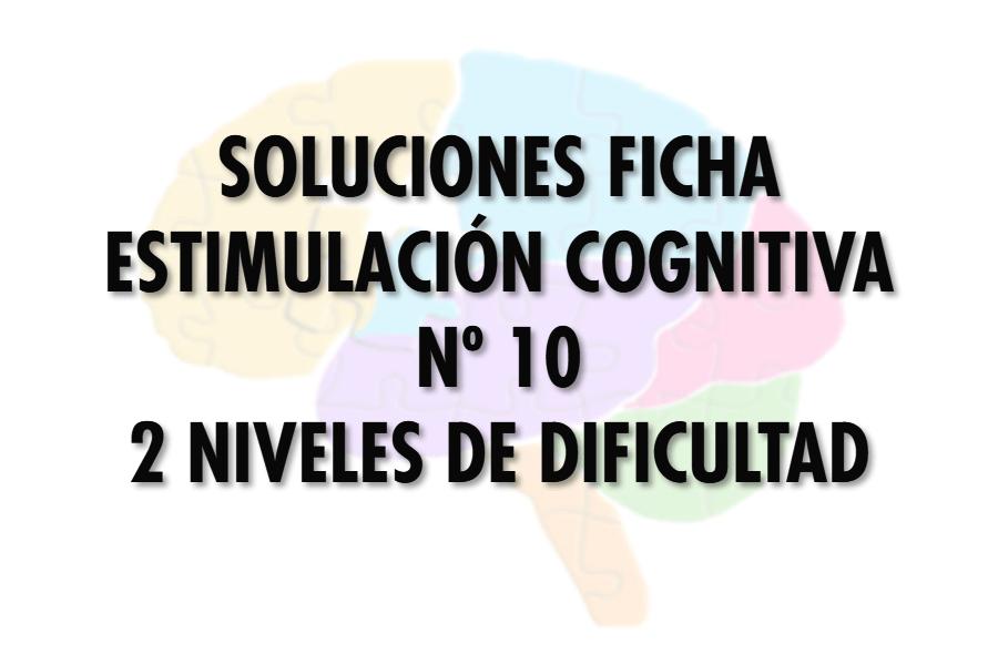 Soluciones ficha cognitiva nº 10