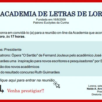 Convite da Academia de Letras de Lorena