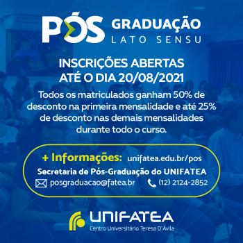 Inscrições abertas para os cursos de Pós-Graduação do UNIFATEA!