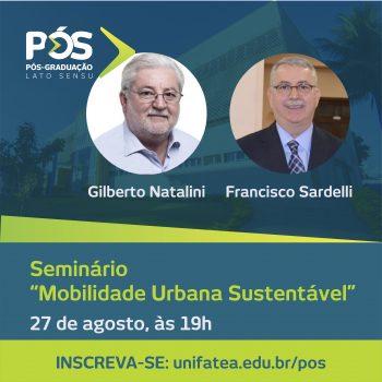 UNIFATEA abre inscrições para Seminário de Mobilidade Urbana Sustentável