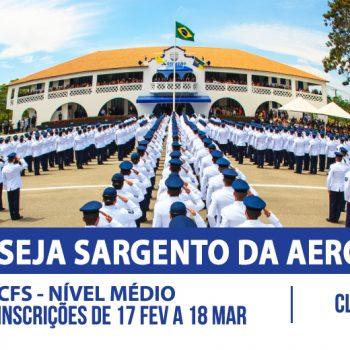 Curso preparatório para o Concurso de Sargentos da Aeronáutica – EEAR está com inscrições abertas