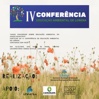 Conferência Municipal de Meio Ambiente de Lorena acontece amanhã, dia 12