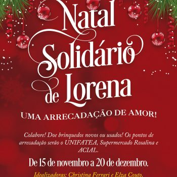 Doe brinquedos – Natal Solidário de Lorena