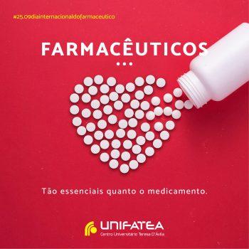 Dia 25 de setembro, dia Internacional do Farmacêutico