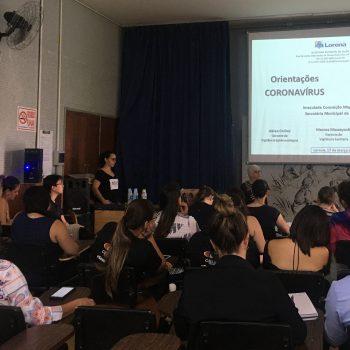 Em continuação ao plano de contingência o UNIFATEA sediou o encontro da Secretária Municipal de Saúde com orientações sobre o Covid-19