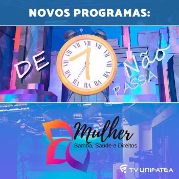 TV UNIFATEA lança dois novos programas neste mês