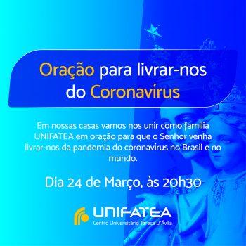 ORAÇÃO PARA LIVRAR-NOS DO CORONAVÍRUS
