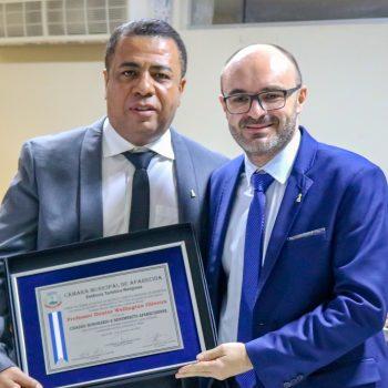 Reitor do UNIFATEA recebe título de Cidadão Aparecidense