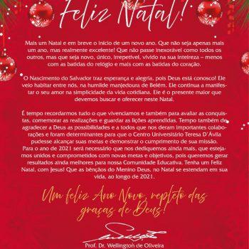 """Palavra do Reitor: """"Feliz Natal"""