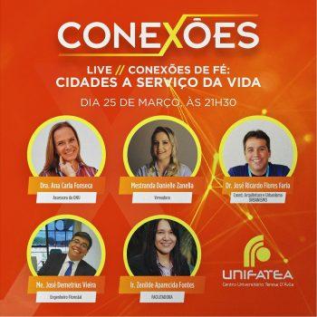 """7° edição da live Conexões traz o tema """"Cidades a Serviço da Vida"""""""