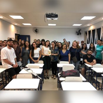 UNIFATEA recebe a visita da aluna do curso Direito da Universidade Presbiteriana Mackenzie, Ana Yassuda, para reunião do PIBID.