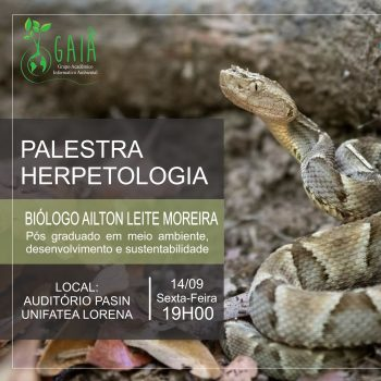 Grupo acadêmico GAIA promove palestra sobre Herpetologia