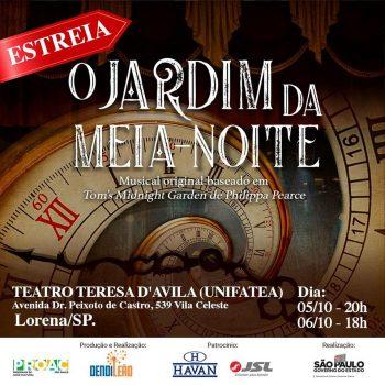 """Teatro Teresa D' Ávila receberá a estreia nacional do musical """"O Jardim Da Meia Noite"""""""