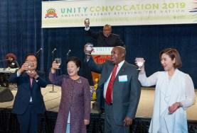 2019神アメリカACLC特別総会で、韓鶴子総裁や文善進世界会長らが乾杯|世界平和統一家庭連合News Online