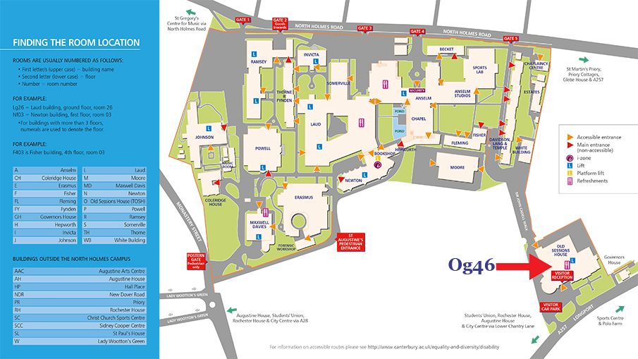 Rochester Campus Map.Canterbury Campus Map Unified News