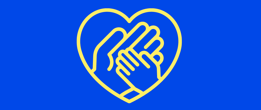 foster care hands in heart