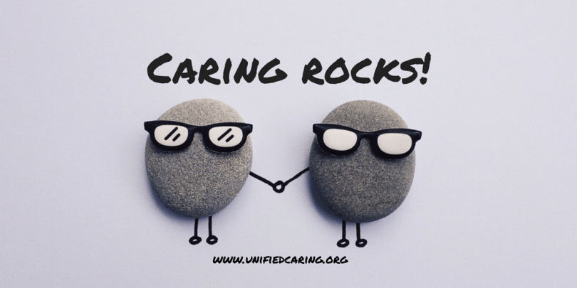 Caring rocks at Unified Caring Association