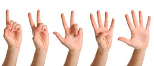 fingers counting 1,2,3,4,5