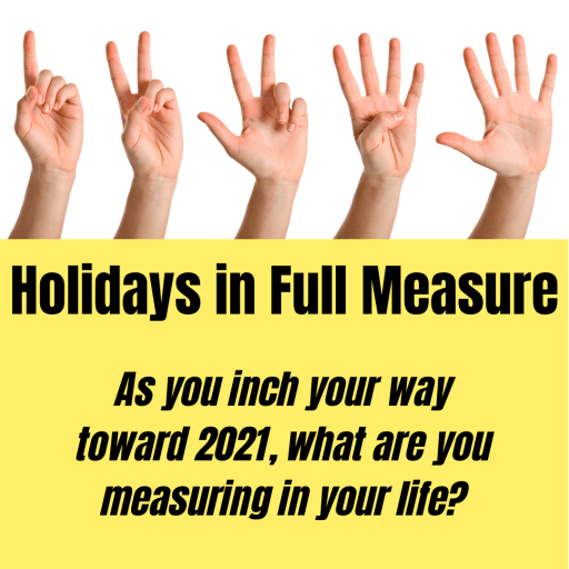 holidays in full measure; counting fingers