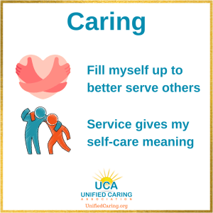 UCA caring includes self-care and service to others