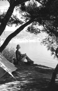 Mum camping 1961