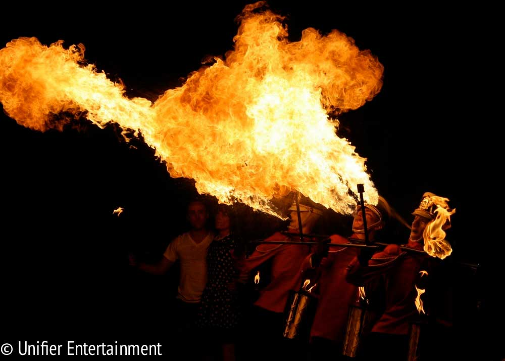 Fire Breathing Marching Band