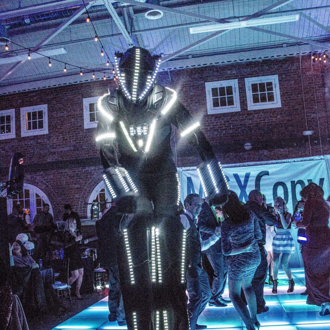 Glow-Stilt-Costume