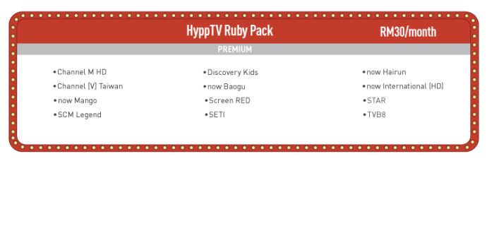 HyppTV Ruby Pack