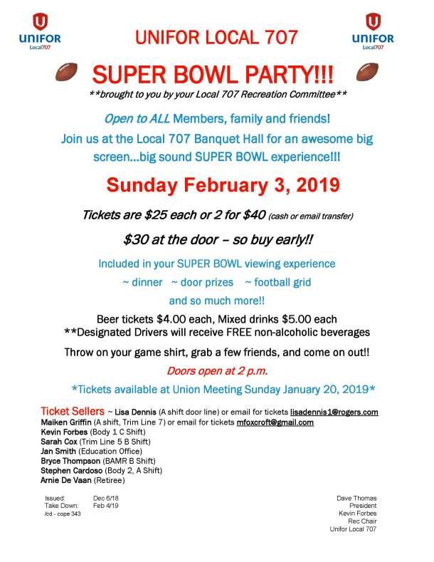Super Bowl 2019 Poster