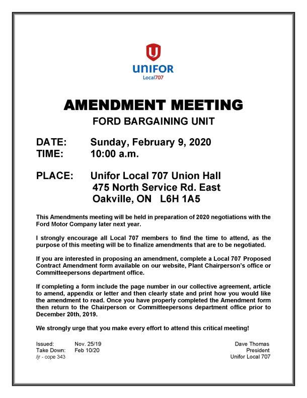Amendment Meeting Notice 2020 Feb