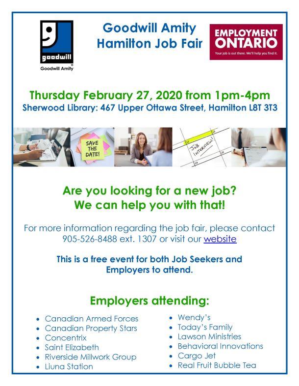 Goodwill Job Fair-Hamilton-Feb 27-2020
