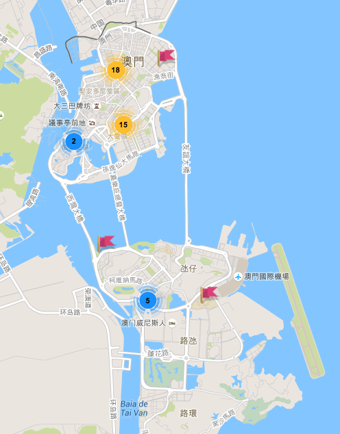 澳門制服地圖