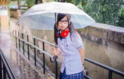 雨中 長榮高中夏季制服 by 小胖