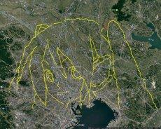 GPS 可以畫什麼? 來看看這位網友畫的初音吧