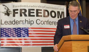 John Medaris spoke for Uniformed Services League at the Freedom Leadership Conference in 2013.