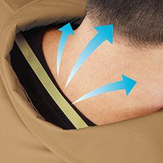 首の後ろを空気が通るので、涼しさアップ