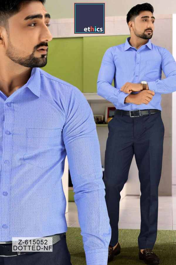 Blue-Dotted-Uniform-Shirts-Trousers-Set-for-Industrial-Workforce-Z-615052-1